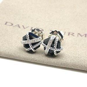 David Yurman Black Onyx Wrap Earrings